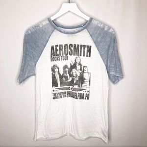 AEO/Live Nation Aerosmith Burnout Raglan T-Shirt